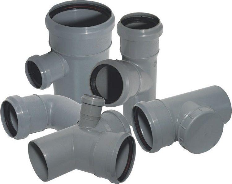 Тройники разного диаметра для врезки в канализационные трубы