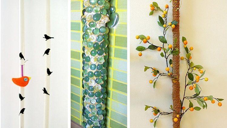 Декор труб при помощи различных материалов и приемов
