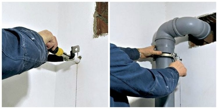 Крепление полипропиленовых труб к стене