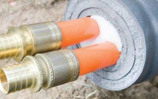 Как утеплить на улице водопроводную трубу