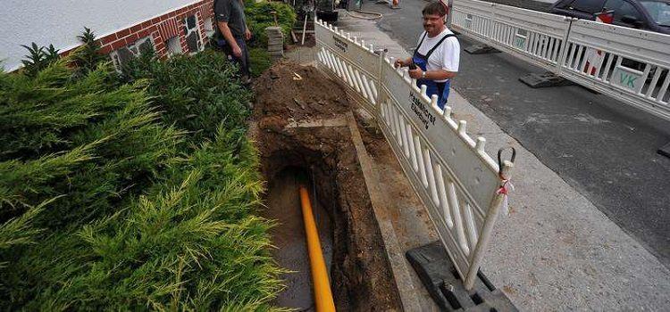 Перенести газовую трубу на участке