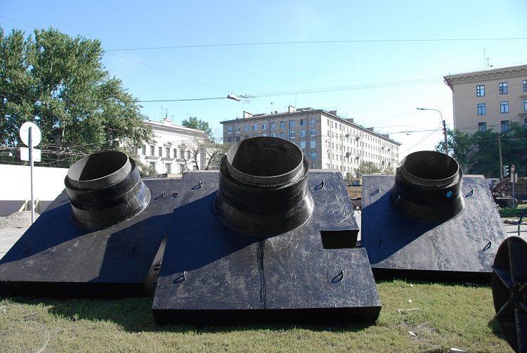 Неподвижные опоры для труб в ППУ изоляции