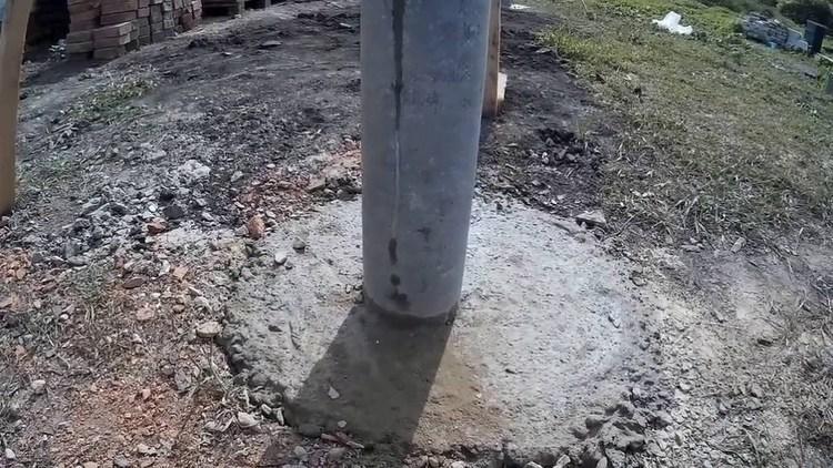 Труба для столбов для забора