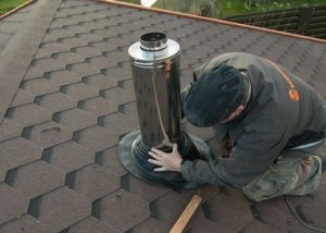 герметизация стояка в крыше