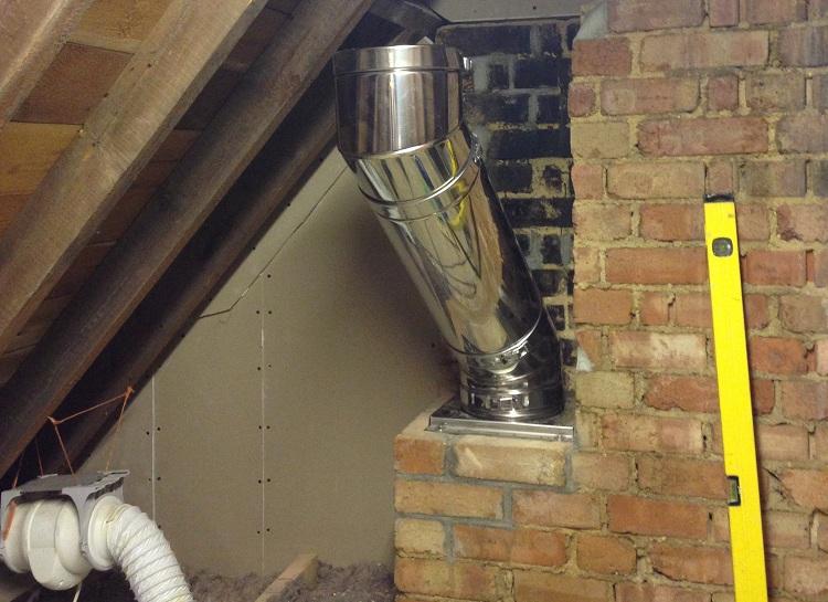 дымоход для колонки в своем доме