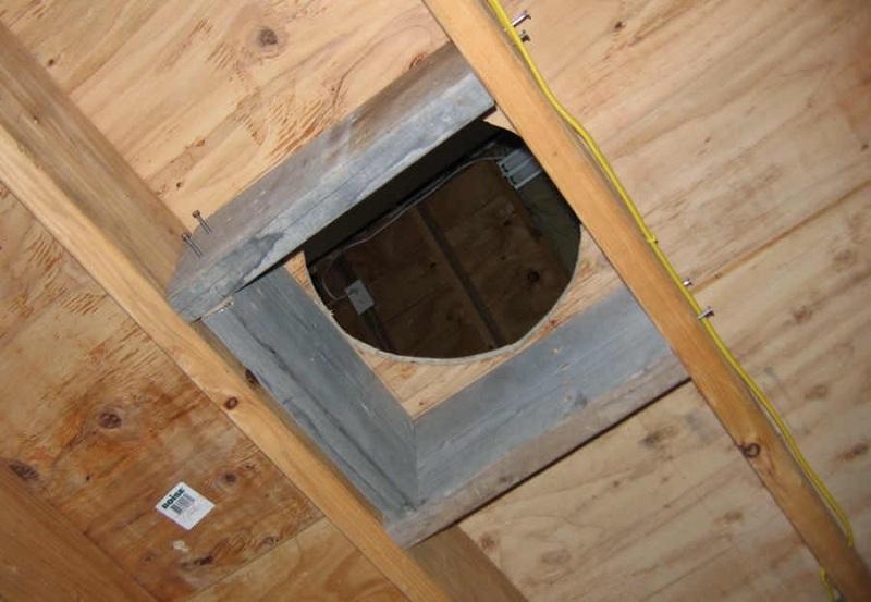 Как сделать проход через потолок в бане своими руками