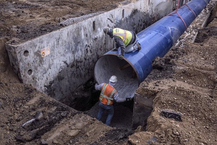 Прокладка трубопроводов водоснабжения