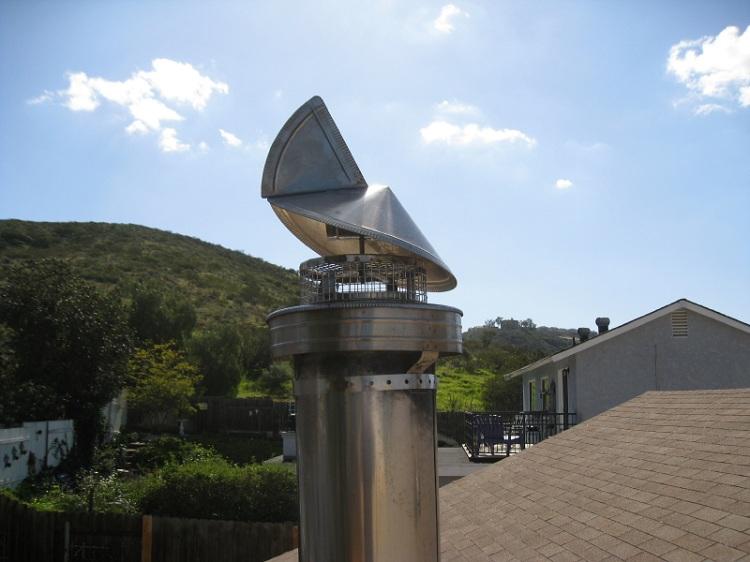 Дефлектор на вентиляционную трубу