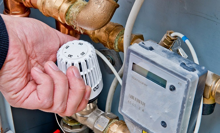 Термостатический трёхходовой смесительный клапан