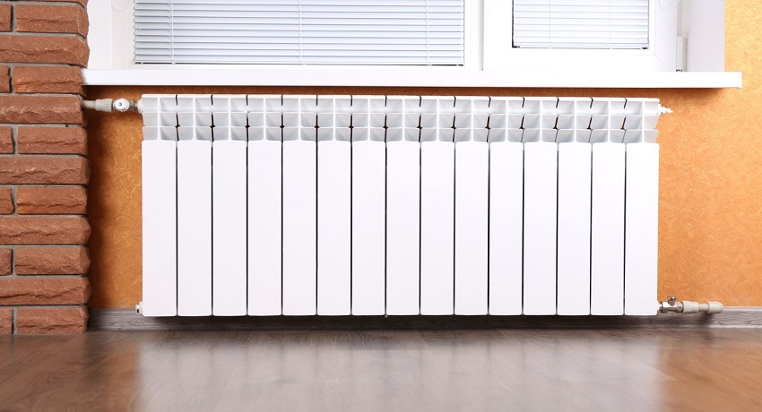 Секция алюминиевого радиатора